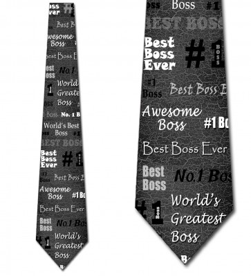 Number One Boss - Black Necktie