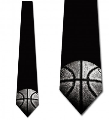 Worn Basketball - Single Necktie