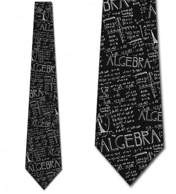 Algebra Allover Black Necktie