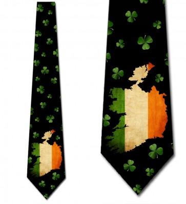 Ireland - Flag and Shamrocks Necktie