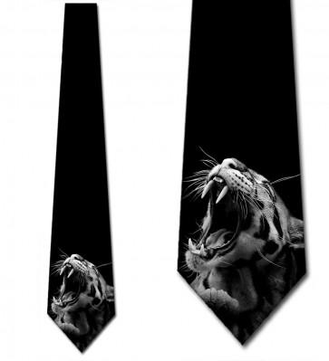 Tiger Roaring Necktie