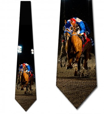 Down the Stretch Horse and Jockey Necktie