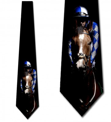 Horse and Jockey Royal Blue Necktie