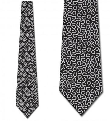 Small Horseshoe Print Necktie