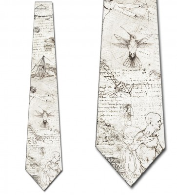 Da Vinci's Drawings Collage Necktie