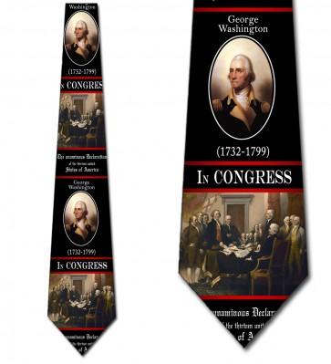 Signing the Declaration Necktie