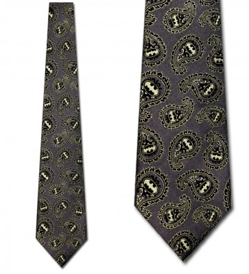 Batman Gray and Yellow Paisley