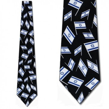 Israel Flags Allover Necktie
