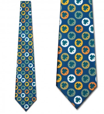 Clover Circles Allover Necktie