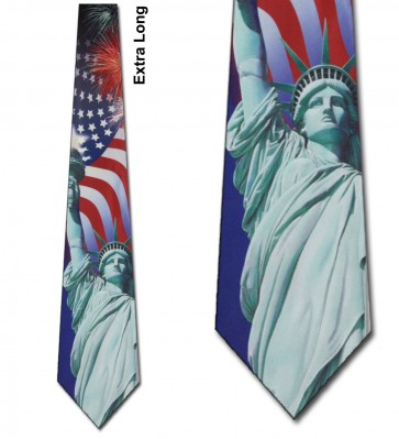 Liberty Collage Extra Long Necktie