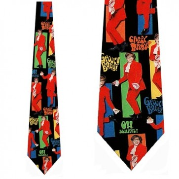 Austin Powers Crazy Baby Necktie