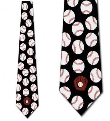 Baseballs Allover Necktie