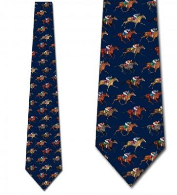 Horse Racing Navy Necktie