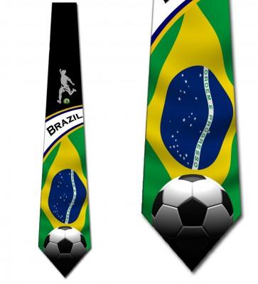 Soccer Fan - Brazil Necktie