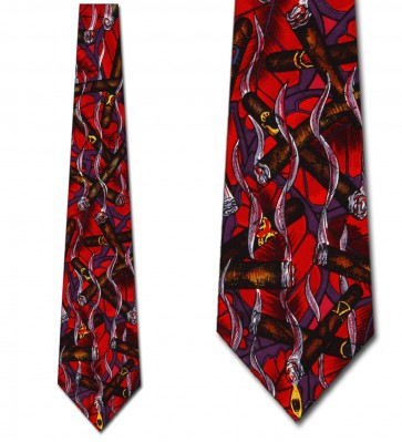 Cigar Abstract (Red) Ties Neckties