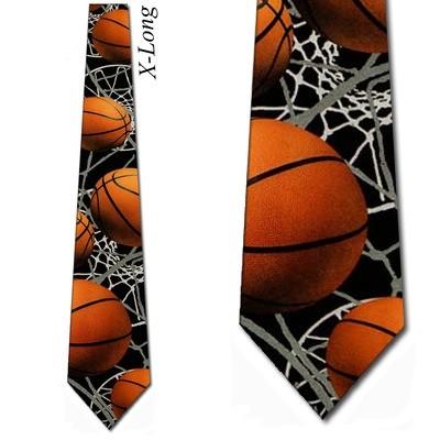 Basketball Zone Tie Mens Basketballs Necktie by Three Rooker