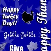 Happy Thanksgiving Collage - Royal Blue Necktie