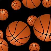 Game Time Basketball Black Necktie