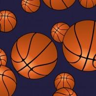 Game Time Basketball Navy Necktie