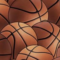 Basketballs Allover - Muted Necktie