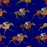 Horse Racing Dark Royal Necktie