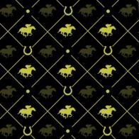 Race Horse Yellow on Black Necktie