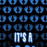 Footprints - It's a Boy! Necktie