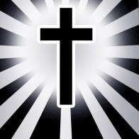 Shine on Me - Black Cross Necktie