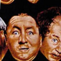 Three Stooges Heads allover