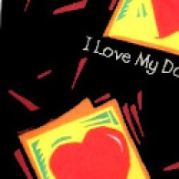 I Love My Daddy Hearts necktie