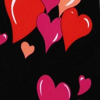 Hearts Grouped Extra Long Necktie