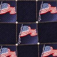 US Flag Block Pattern Necktie