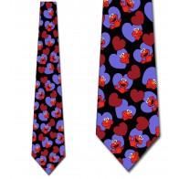 Elmo Hearts Allover Tie