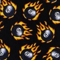 Eight Balls on fire Necktie