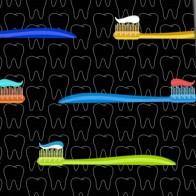 Big Toothbrush Repeat Necktie