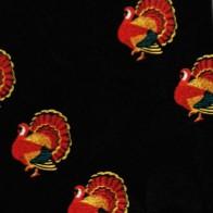 Thanksgiving Turkey Mini Stripes Necktie