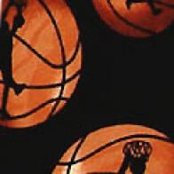 Basketball Slam Black Necktie
