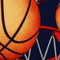 Basketball Zoned Navy Necktie