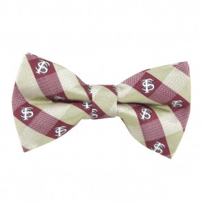 Florida State Check Bow Tie