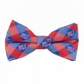 Kansas Jayhawks Check Bow Tie