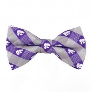 Kansas State Check Bow Tie