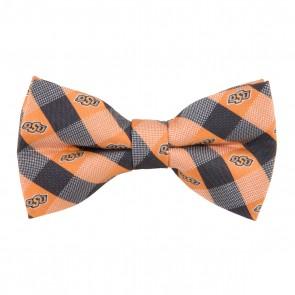 Oklahoma State Check Bow Tie