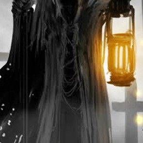 Grim Reaper in a Graveyard Necktie