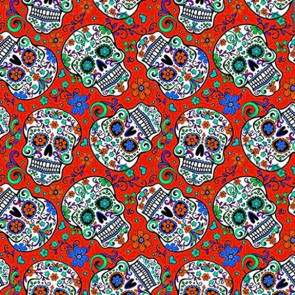Sugar Skull Repeat - Red