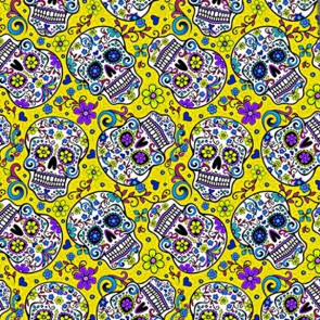Sugar Skull Repeat - Yellow