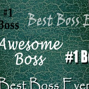 Number One Boss - Hunter Green Necktie