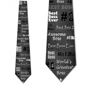 Number One Boss - Black Necktie