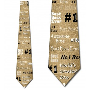 Number One Boss - Tan Necktie