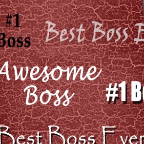 Number One Boss - Burgundy