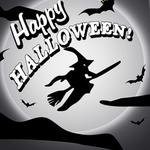 Happy Halloween - Black and White